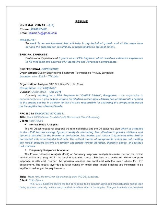 Nirmal kumar updated resume