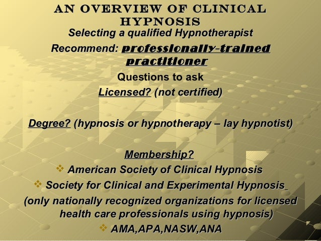 an overview of hypnosis 21 reviews of hypnosis chicago omg i went to rebecca lauer one week ago to quit smoking, and i am now a non-smoker i had smoked for 35.