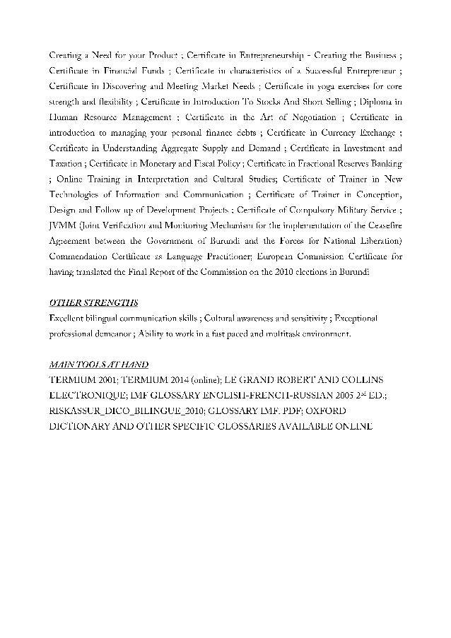 translator resume samples