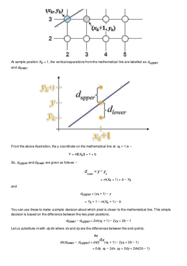 Dda Line Drawing Algorithm With Example : Dda algo notes