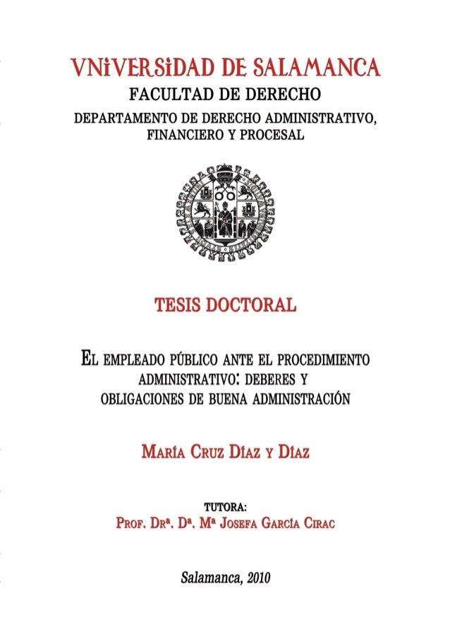 María Cruz Díaz y Díaz 3 UNIVERSIDAD DE SALAMANCA FACULTAD DE DERECHO DEPARTAMENTO DE DERECHO ADMINISTRATIVO, FINANCIERO Y...