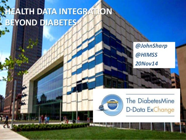 HEALTH DATA INTEGRATION  BEYOND DIABETES  @JohnSharp  @HIMSS  20Nov14