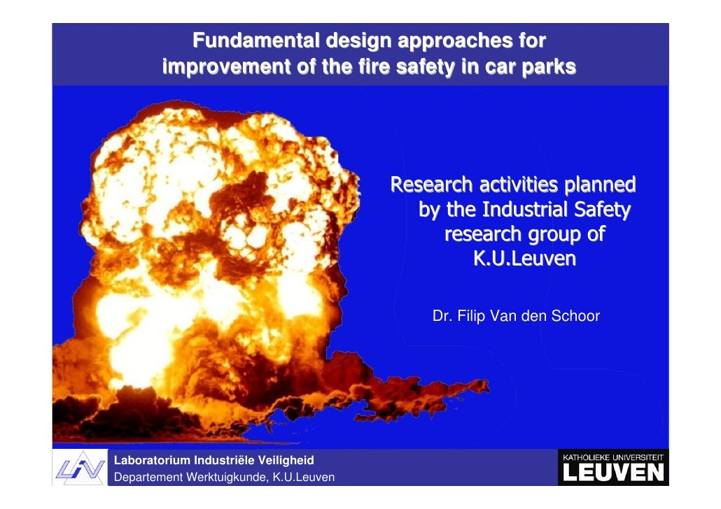 Fundamental design approaches for         improvement of the fire safety in car parks                                     ...