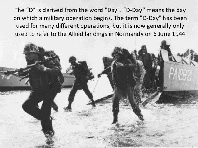 what does the d in d day means