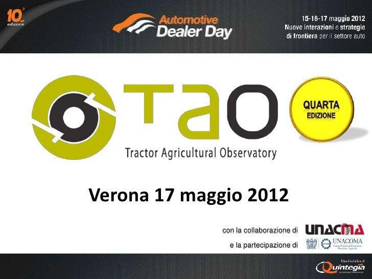 Verona 17 maggio 2012              con la collaborazione di                e la partecipazione di