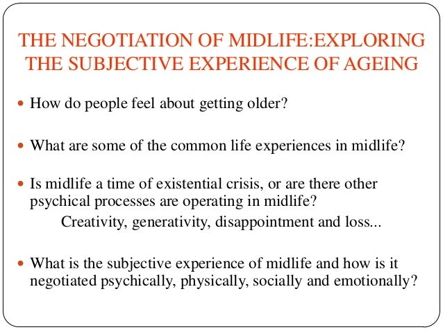 Becoming the Older Generation: Love, Loss and the Midlife Transition by Bethany Morgan Brett Slide 2