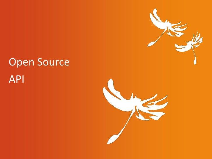 Open SourceAPI