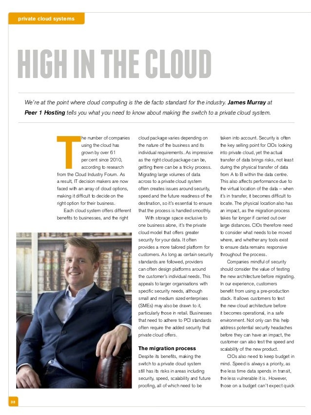 private cloud systems 38 T he number of companies using the cloud has grown by over 61 per cent since 2010, according to r...