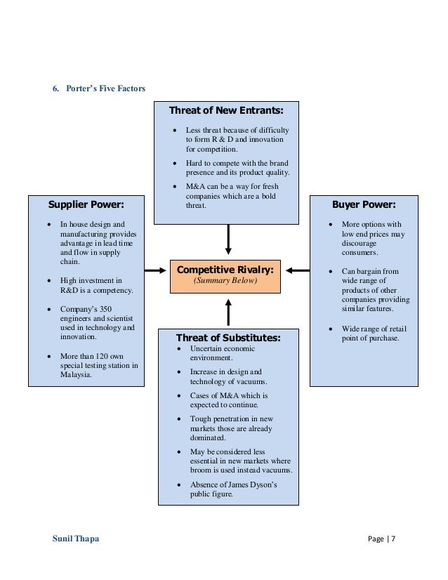 swot analysis dyson Read this free business essay and other term papers, research papers and book reports dyson pestel analysis dyson case pestel analysis political in.