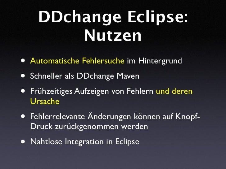 DDchange: Fehlerverursachende Änderungen