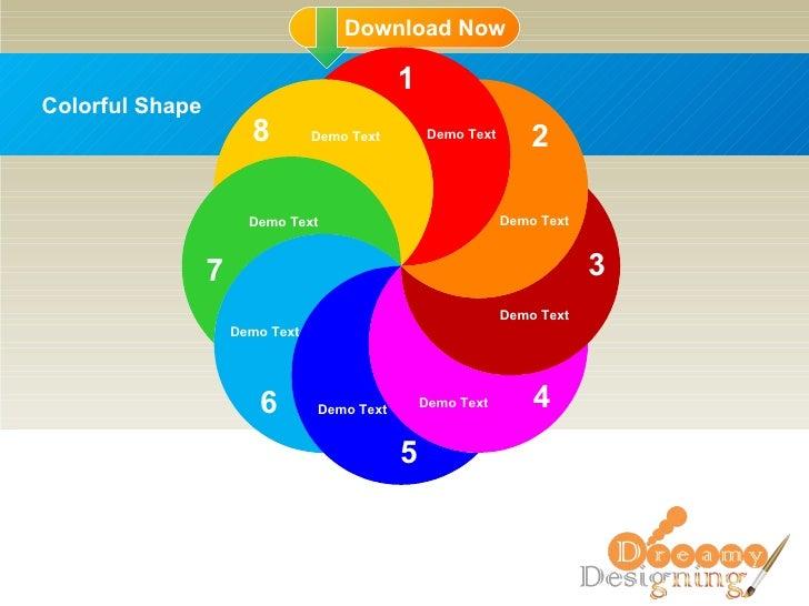 Colorful Shape 1 2 3 4 5 6 7 8 Demo Text Demo Text Demo Text Demo Text Demo Text Demo Text Demo Text Demo Text