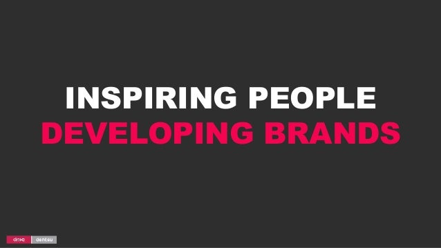 INSPIRING PEOPLE DEVELOPING BRANDS