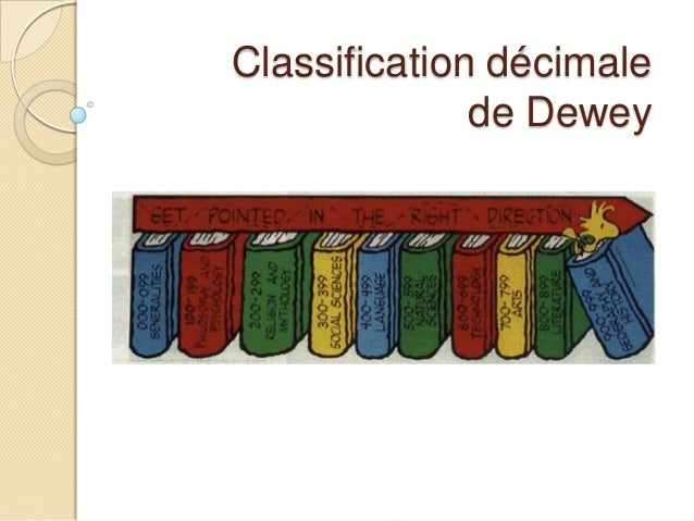 Classification décimalede Dewey