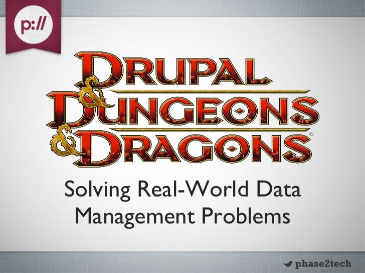 Solving Real-World Data Management Problems