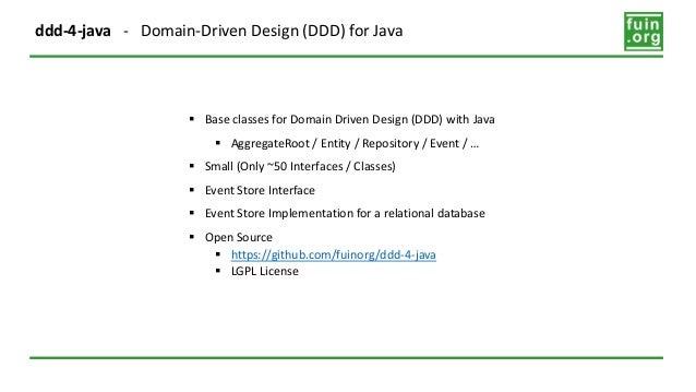 Ddd 4 Java Domain Driven Design Ddd For Java