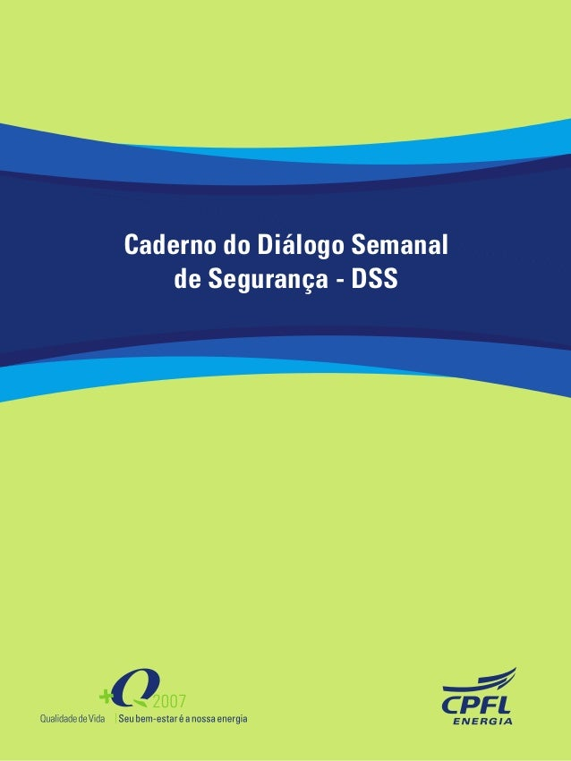 Caderno do Diálogo Semanal de Segurança - DSS