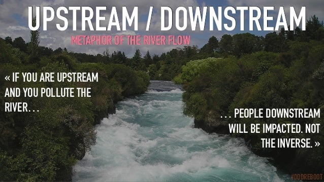 #DDDREBOOT UPSTREAM / DOWNSTREAM «IF YOU ARE UPSTREAM AND YOU POLLUTE THE RIVER… … PEOPLE DOWNSTREAM WILL BE IMPACTED. NO...