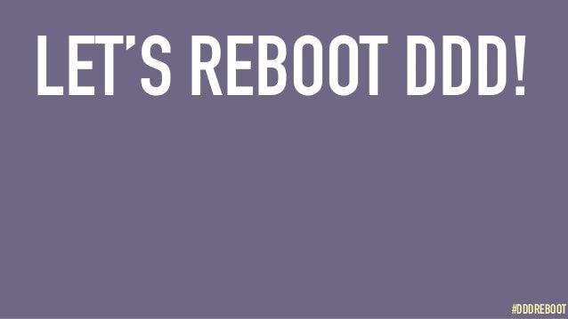 #DDDREBOOT#DDDREBOOT LET'S REBOOT DDD!
