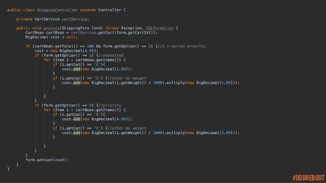 #DDDREBOOT Good code / Bad code