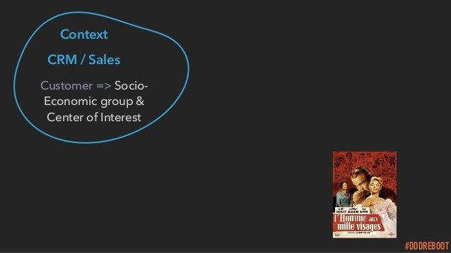 #DDDREBOOT Context CRM / Sales Customer => Socio- Economic group & Center of Interest