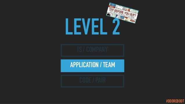 #DDDREBOOT LEVEL 2 IS / COMPANY APPLICATION / TEAM CODE / PAIR