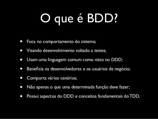 Mas o que é TDD?