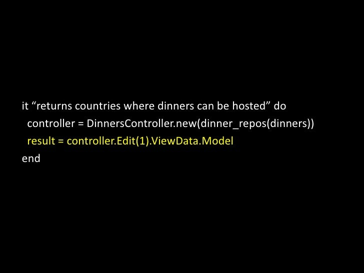 """it """"returns countries where dinners can be hosted"""" do  <br />controller = DinnersController.new(dinner_repos(dinners))<br ..."""