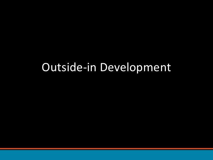 Outside-in Development<br />