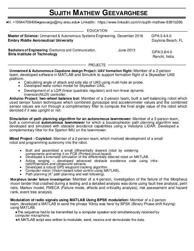 Sujith Mathew Geevarghese- Resume