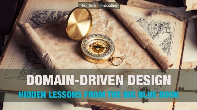 DOMAIN-DRIVEN DESIGN HIDDEN LESSONS FROM THE BIG BLUE BOOK Nick Tune - @ntcoding
