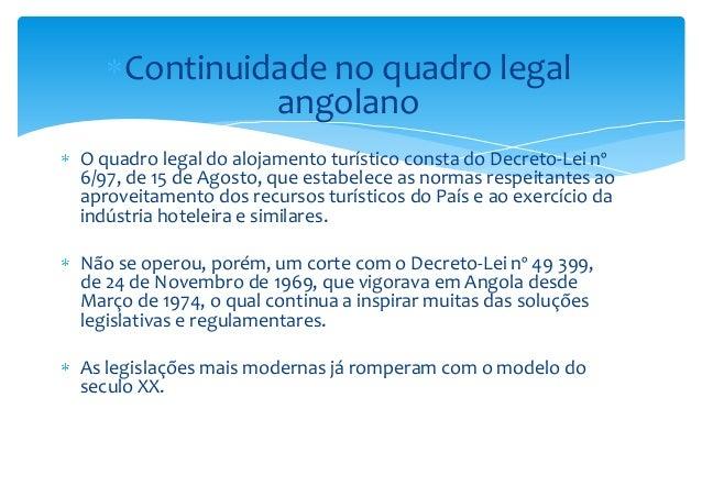 Direito do turismo da rep blica de angola prof doutor for R 1 regulamento interno e dos servicos gerais risg
