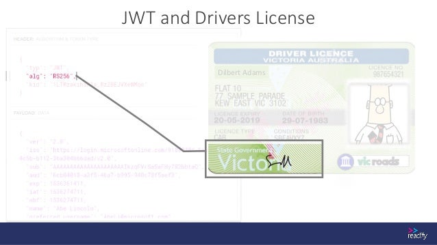 JWT and Drivers License Dilbert Adams