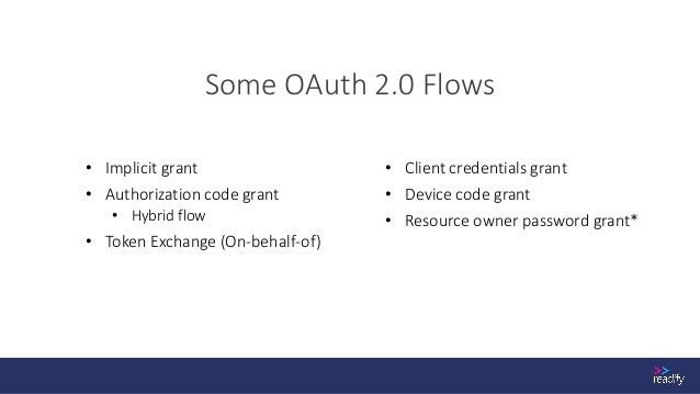 Implicit Grant Flow https://docs.microsoft.com/en-us/azure/active-directory/develop/v2-oauth2-implicit-grant-flow GET http...