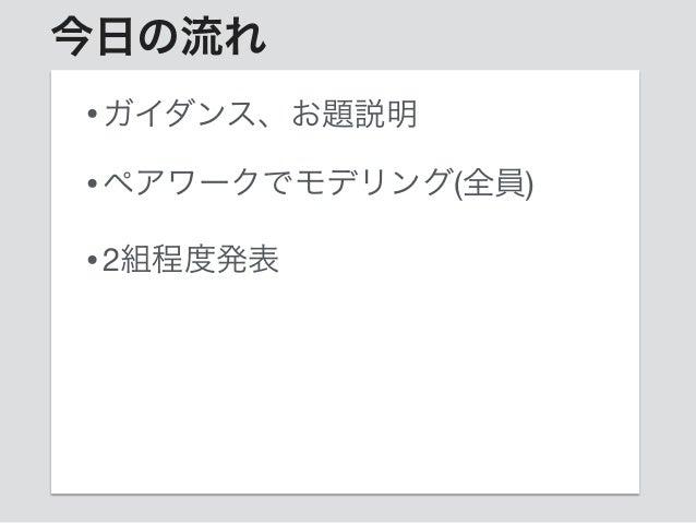 大阪DDD読書会ワークショップvol.1ガイダンス Slide 2