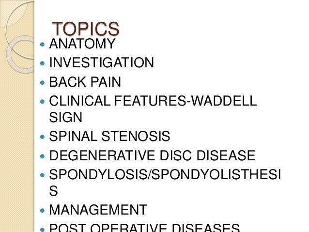 Degenerative disease of the spine Slide 2