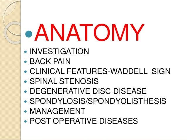 Degenerative disease of the spine Slide 3