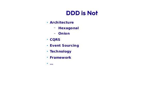 • Domain DDD is