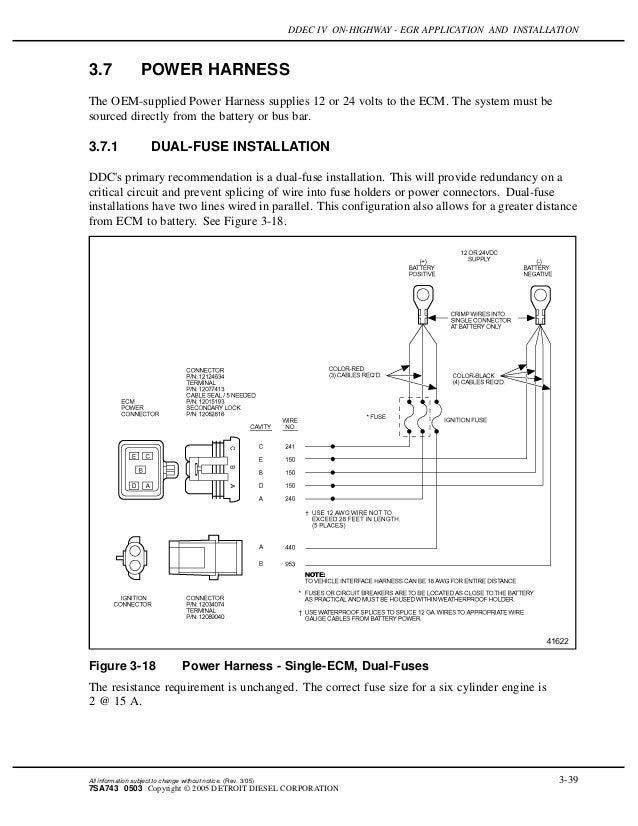 Ddec iv on highway - egr application and installation Ddec Wiring Diagram Ignition on