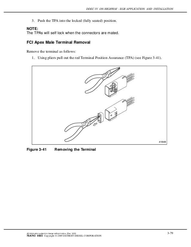 Ddec iv on highway - egr application and installation J Wiring Diagrams For Detroit Sel on