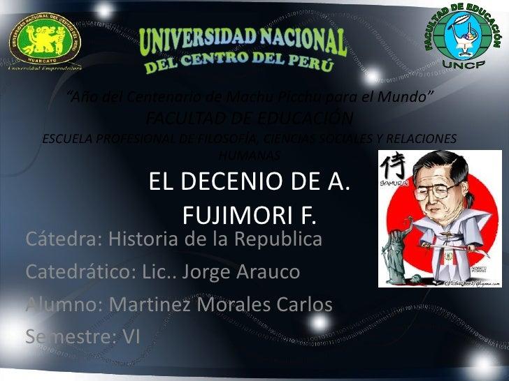 """""""Año del Centenario de Machu Picchu para el Mundo""""                FACULTAD DE EDUCACIÓN ESCUELA PROFESIONAL DE FILOSOFÍA, ..."""