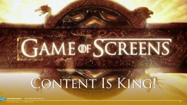 40© 2015 DeanDonaldson.com | All Rights Reserved @DeanDonaldson | http://NothingToHide.Us Content Is King!