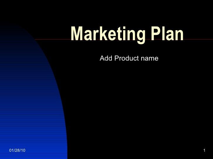 Marketing Plan Add Product name