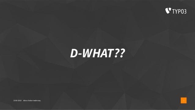 Ddev workshop t3dd18 Slide 2