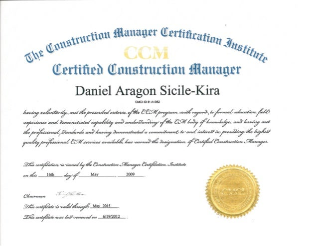 certificate ccm slideshare cmci upcoming