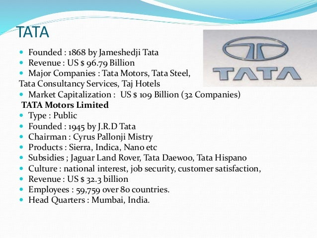 tata's acquisition of ford's luxury brands Last year for $220 million and south korea's daewoo commercial vehicle co in 2004 for $102 million its first big international acquisition was tata tea's acquisition of tetley group of the united kingdom in 2000.