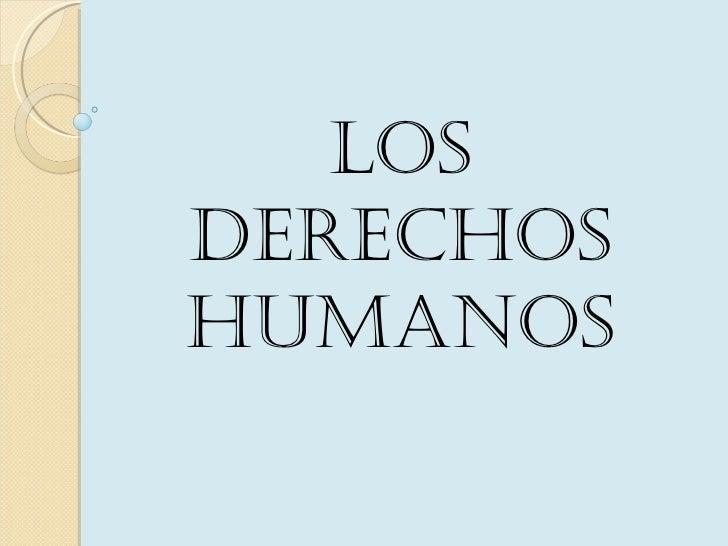 LosDerechoshumanos
