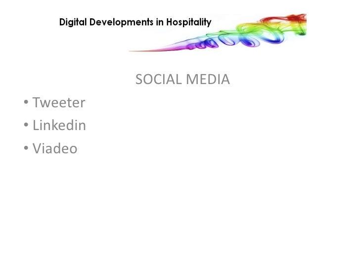 SOCIAL MEDIA<br /><ul><li>Tweeter