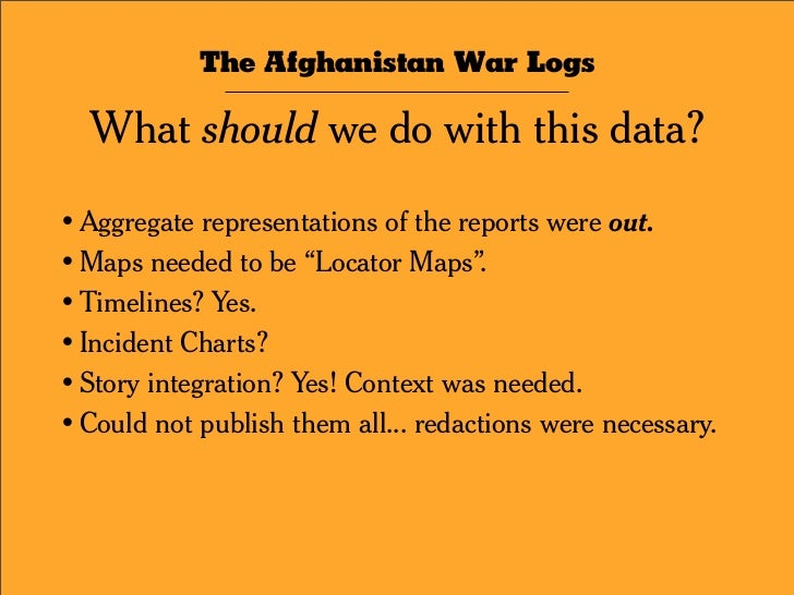The Afghanistan War Logs / The Interactive