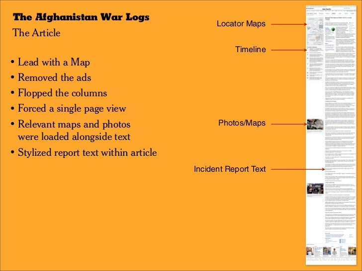 The Afghanistan War Logs / The Series Page