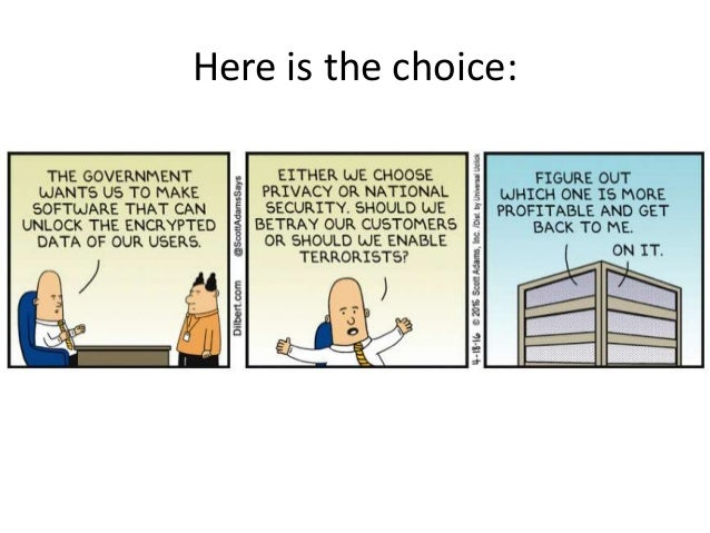 Security v. Privacy: the great debate Slide 2